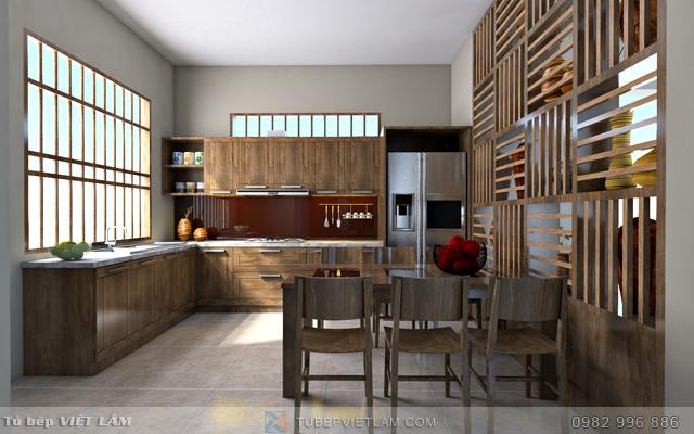 Tủ bếp gỗ óc chó  VLTB.OC.01