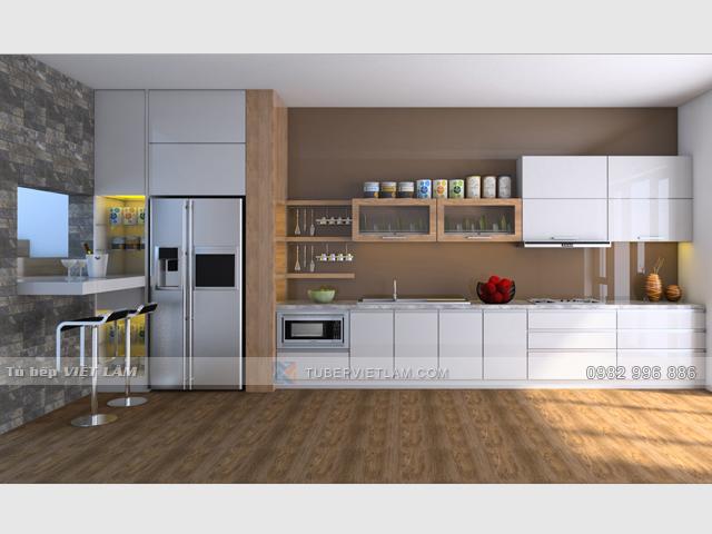 Tủ bếp Acrylic bóng gương VL.TB.ACR.01