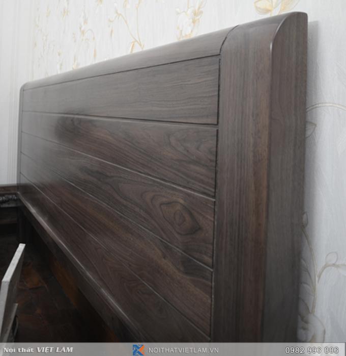 Đầu giường gỗ óc chó tự nhiên