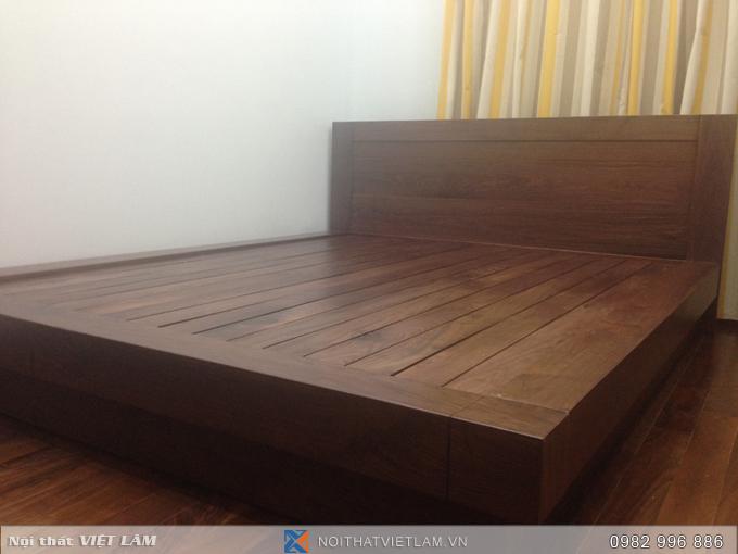 Giường gỗ óc chó nhập khẩu