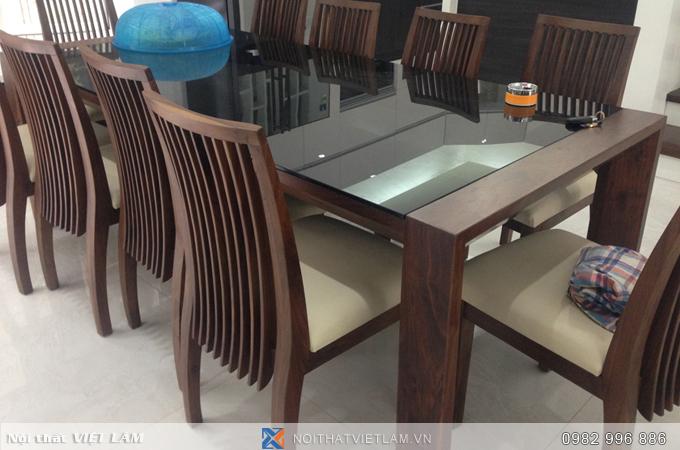 Bộ bàn ăn bằng gỗ óc chó