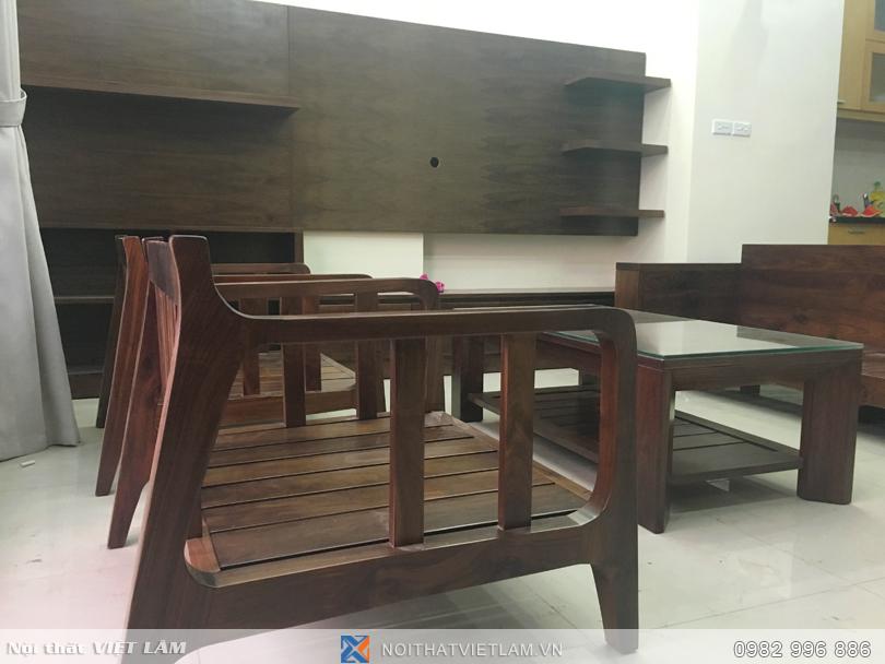 Sofa gỗ óc chó VL.SF01